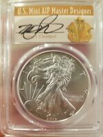 2013-W CLEVELAND ART DECO FIRST STRIKE BURNISHED SILVER EAGLE PCGS SP70 1 OF 3