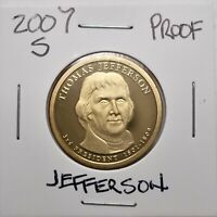 2007-S PROOF PRESIDENTIAL DOLLAR COIN-T. JEFFERSON