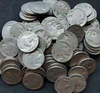 OLD US BUFFALO NICKEL LOT 100 COINS    NO DATES - CRAFTS, COLLECTIBLE