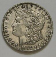 1888-O MORGAN DOLLAR VAM-4 HOT LIPS - TOP 100 DOUBLED DIE OBVERSE STRONG EXTRA FINE