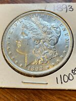 1893 MORGAN SILVER DOLLAR UNC