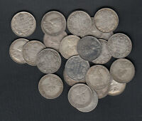 1911 36  CANADA SILVER 25 CENTS   LOT OF 25