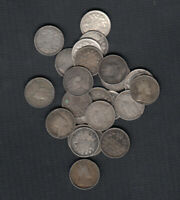1902 10  CANADA SILVER 5 CENTS   LOT OF 25