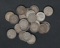 1911 20  CANADA SILVER 5 CENTS   LOT OF 25