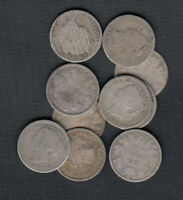 1858 1901  CANADA SILVER 10 CENTS   LOT OF 10