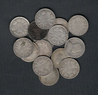 1902 10  CANADA SILVER 10 CENTS   LOT OF 15