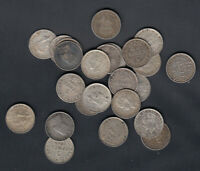 1903 47  NEWFOUNDLAND SILVER 5 CENTS   LOT OF 25