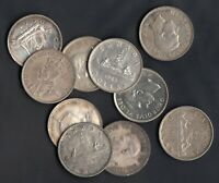 1935 52  CANADA SILVER DOLLARS   LOT OF 10