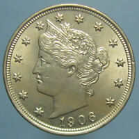 1906 LIBERTY NICKEL   UNCIRCULATED DETAILS BUT OBVERSE SCRATCH
