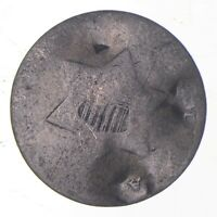 SILVER TRIME WORN DATE THREE CENT SILVER 3 CENT EARLY US CO