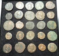 LOT OF 25 ANCIENT ROMAN COINS ALL FINE TO VF SO DETAILED: LARGEST IS 23.5 MM