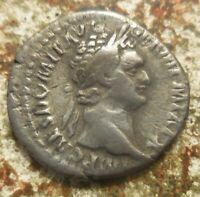 SHARP DOMITIAN. SILVER DENARIUS OF MINERVA  JUST UNWRAPPED FROM CELLOPHANE