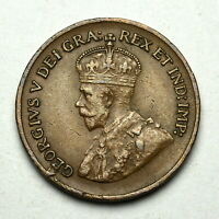 1932 CANADA EXTRA METAL KING GEORGE V SMALL 1 CENT HIGH GRAD