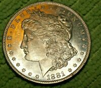 A758,MORGAN SILVER DOLLAR,SELDOM SEEN HIGH GRADE BU 1881 O VAM 6A