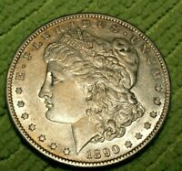 A762.SELDOM SEEN,AU,,1890 S VAM 28 MORGAN SILVER DOLLAR,