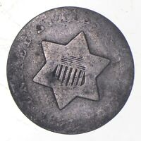 SILVER TRIME 1851 THREE CENT SILVER 3 CENT EARLY US COIN LO