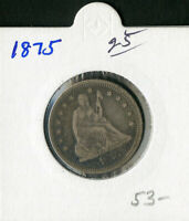 US COIN 1875 SEATED LIBERTY QUARTER