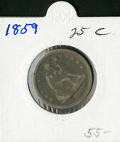 US COIN 1859 SEATED LIBERTY QUARTER