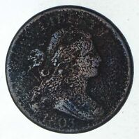 1803 DRAPED BUST LARGE CENT - CIRCULATED 9232