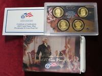2008 US MINT PRESIDENTIAL $1 COIN PROOF SET  4 BRILLIANTLY MIRRORED PROOF COINS