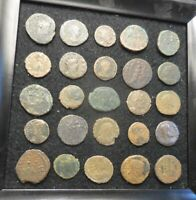 LOT OF 25 ANCIENT ROMAN COINS ALL FINE TO VF SO DETAILED: LARGEST IS 22 MM