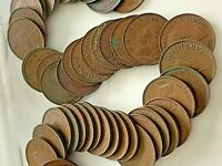 1945 ENGLISH FARTHINGS COINS  50 COUNT  LOT