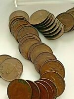 1948 ENGLISH FARTHINGS COINS  50 COUNT  LOT