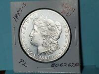 1887-S MORGAN SILVER DOLLAR GREAT REFL. FIELDS GEM BU PL 8062620-157CC