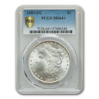 1881-CC MORGAN DOLLAR MINT STATE 64 PCGS - SKU83426
