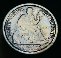 1876 S SEATED LIBERTY DIME 10C HIGH GRADE DETAILS VF DATE US SILVER COIN CC2494