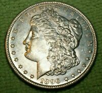 A889,MORGAN SILVER DOLLAR,1896-P VAM 12 NEAR SLANTED DATE R5