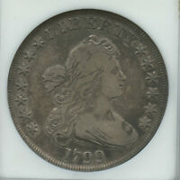 1799 BUST DOLLAR OLD ANACS MINI HOLDER VF 35 SUPER EYE APPEAL GREAT TYPE COIN