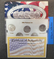 2006 P PLATINUM EDITION STATE QUARTER COLLECTION W/BOX BU