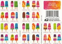 SCOTT 5285 5294 FROZEN TREATS 2018 SELF ADH MINT NH BOOKLET