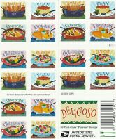 SCOTT 5192 5197 DELICIOSO 2017 SELF ADH BOOKLET 20 STAMPS FO