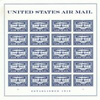 SCOTT 5281 BLUE AIRMAIL CENTENARY 2018 MINT NH SHEET OF 20 F