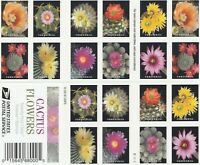 SCOTT 5350 5359 CACTUS FLOWERS 2019 SELF ADH MINT NH BOOKLET