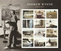 SCOTT 5212 A L ANDREW WYETH 2017 MNH FOREVER STAMPS SHEET OF