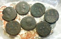 LOT OF 7 ANCIENT ROMAN PROVINCIAL COINS OF BITHYNIA NICAEA.