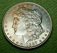 A900,MORGAN SILVER DOLLAR,1887 P VAM 3A SUPER CD BU R5