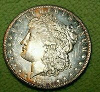A900,SELDOM SEEN MORGAN SILVER DOLLAR,1887 S/S VAM 2 HIGH GRADE PL BU