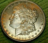 A835,SELDOM SEEN VAM 8 1899 O BU,LIGHT TONED MORGAN SILVER DOLLAR,
