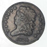 1825 CLASSIC HEAD HALF CENT   JEFFERSON COIN COLLECTION  703