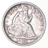 5C   1/2 DIME HALF   1838 SEATED LIBERTY HALF DIME EARLY AME