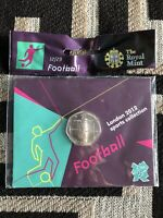 FOOTBALL OLYMPIC 50P BRAND NEW UNCIRCULATED
