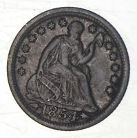 1854 SEATED LIBERTY HALF DIME   CHARLES COIN COLLECTION  562