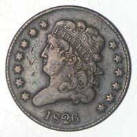 1826 CLASSIC HEAD HALF CENT   JEFFERSON COIN COLLECTION  714