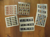 132   44 CENT STAMPS $58.08  FACE VARIOUS  SHEETS
