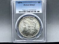1879-P PCGS MINT STATE 63 MORGAN SILVER DOLLAR PREMIUM COIN AND STRIKE  EYE APPEAL