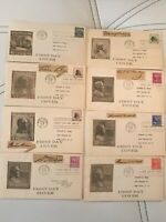 LOT OF 30 1938 UNITED STATES PRESIDENTS FIRST DAY COVERS FDC
